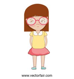 pretty girl with glasses and casual wear