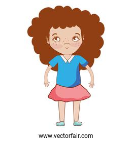 pretty girl with hairstyle and casual wear
