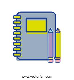 rings notebook tool with pencils icon