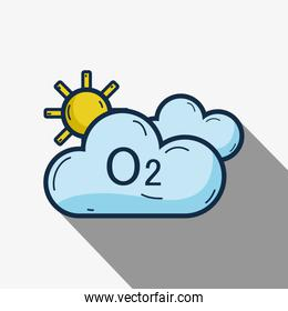 cute clouds with o2 and sun