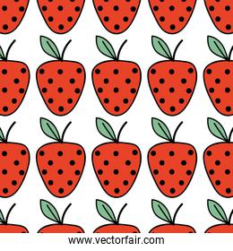 fresh strawberry fruit and organ food background