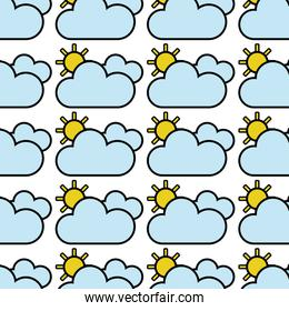 beauty weather of clouds with sun background