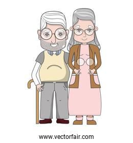 old people couple together forever