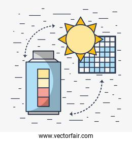 solar energy with electric battery loaded