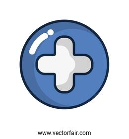 cross clinic symbol to healthcare people