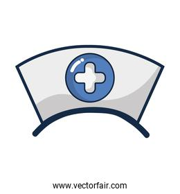 nurse hat element that used in the hospital