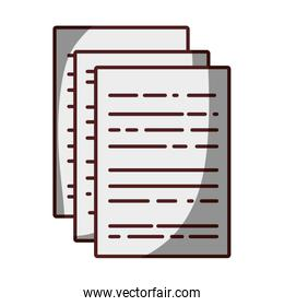 business documents to finance information of company