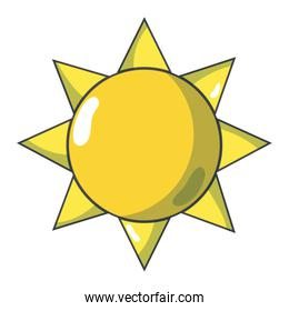 natural sun and normal weather icon