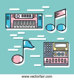 set technology music elements to lay music