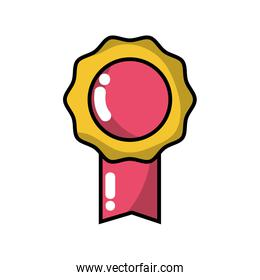 medal symbol to winner of competition game