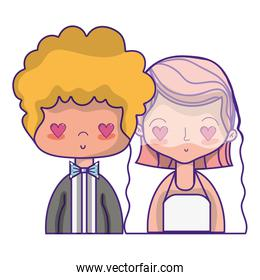 beauty couple married with hairstyle design