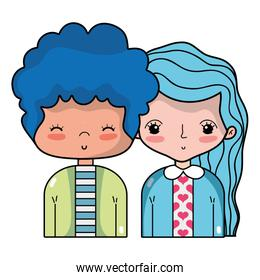 beauty couple together with hairstyle design