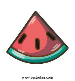 delicious watermelon fruit with protein nutrition