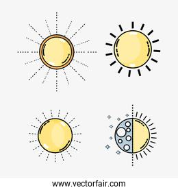 set weather conditions and natural temperature