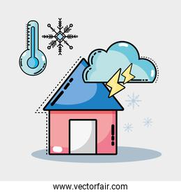 natural weather condition and diferents temperature