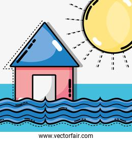 weather natural conditions with diferents temperatures