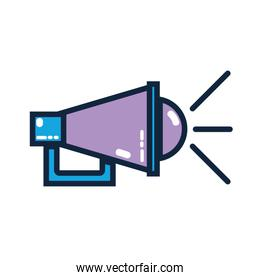 megaphone to communication mesage in the public