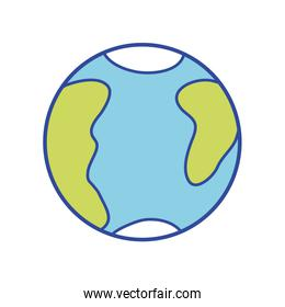 global earth planet with geography map