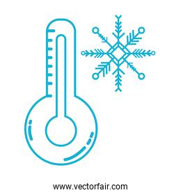 line thermometer measure instrument to know the temperature
