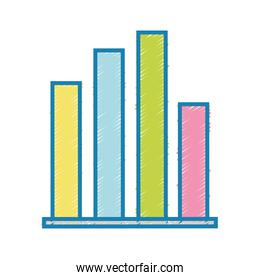 statistics graphic bar diagram design
