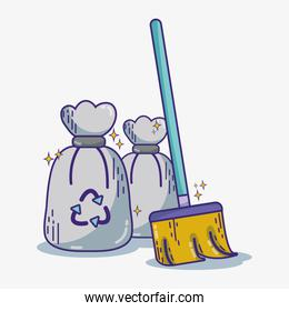 domestic service equipment to clean house