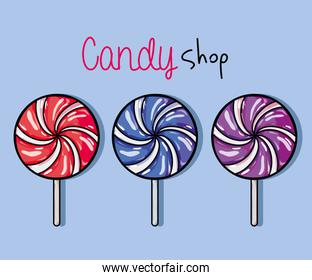 tasty sweet candy with delicious texture