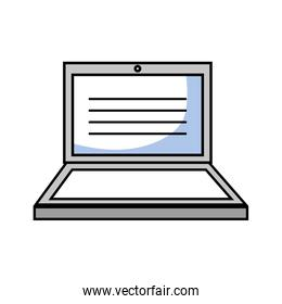 laptop electronic technology with screen design