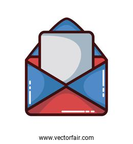 card message with letter document information