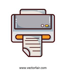 printer machine technology with business document