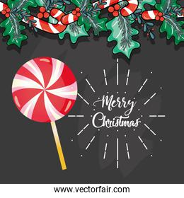 merry chistmas decoration card to celebration