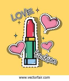 lipstick with hearts fashion patches design