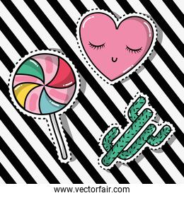 cute fashion patches sticker trendy