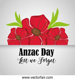flowers design and anzac day design