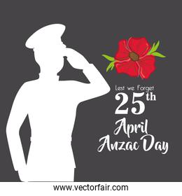 military anzac day memory soldier
