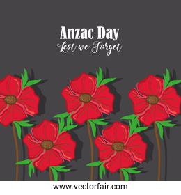 anzac holiday memorial with natural rose