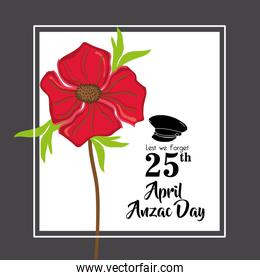 hat soldier to remembrance anzac day