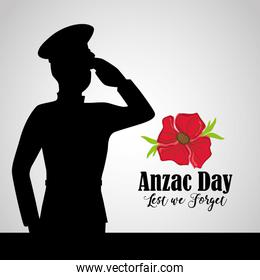 army soldier to anzac day memory