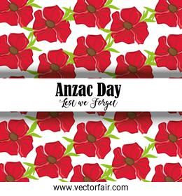 remembrance war with anzac day memorial