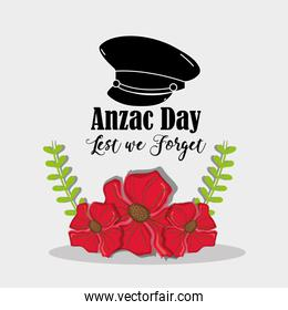remambrance hat soldier to anzac day