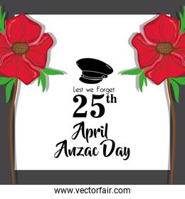 hat soldier remembrance to anzac day