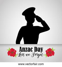 soldier military to anzac holiday memory