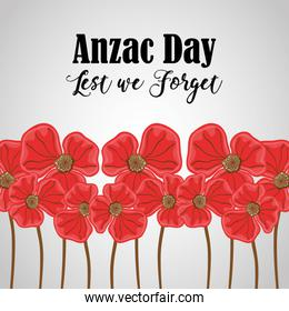 flowers to anzac holiday and memorial war