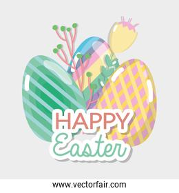 happy eggs easter celebration holiday