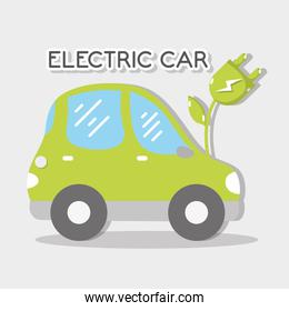 ecological electric car with power cable