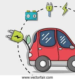 electric car technology with recharge battery