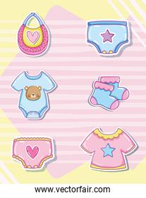 Cute baby cartoons collection