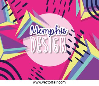 Memphis colorful background design