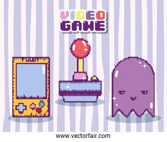 Pixelated videogame concept