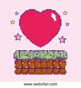 Pixelated videogame heart item