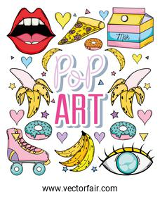 Pop art cartoon